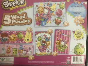 Shopkin wood puzzle for Sale in East Windsor, NJ