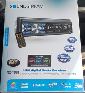 Sound stream bluetooth stereo with multiple color display band new with warranty for Sale in Pomona, CA