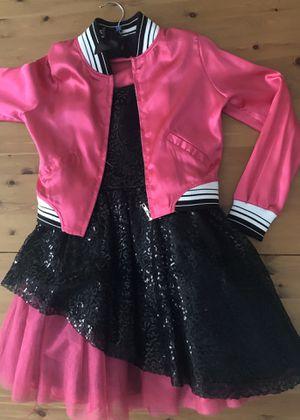 Halloween Costume Disco Dress and Jacket Jojo Siwa Girls Size L 10/12 for Sale in Alexandria, VA