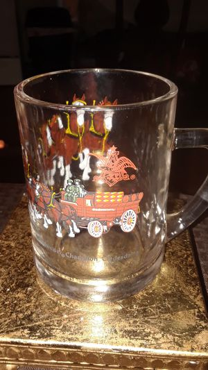 VINTAGE BUDWIEISER CLYDESDALE BEER GLASS MUG COLLECTABLE for Sale in undefined