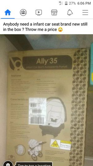 Ally 35 infant car seat for Sale in Tulsa, OK