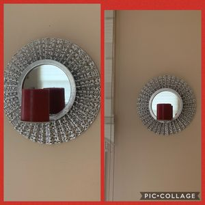 4 piece Wall Mirror Candle Holders!!!! With Red Candles!!! Now only 15$ for 4 piece!!!! for Sale in Streamwood, IL