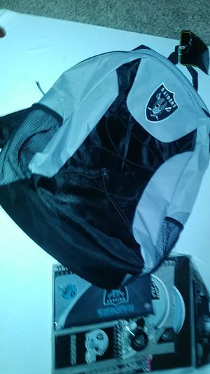 Brand new original raiders backpack and 11piece value set for Sale in Hesperia, CA