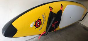 12 ft touring paddleboard + fiber glass paddle RARELY USED!!! for Sale in Durham, NC