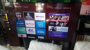 Brand New 55in Roku TCL Smart TV 4K Ultra UHD must pick up downtown Seattle less than a year old model 2018 Series S4 421 for Sale in Seattle, WA