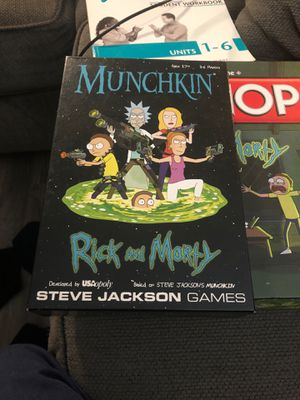 rick and morty munchkin for Sale in Los Angeles, CA