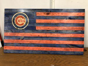 Chicago cubs wood rustic flag for Sale in Arlington Heights, IL