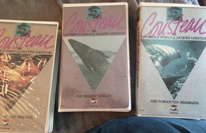 VHS from Jacques Cousteau/3 under sea world for Sale in Saint Paul, MN