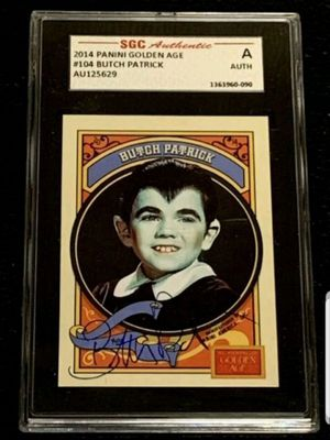 THE MUNSTERS AUTOGRAPH BUTCH PATRICK GRADED CARD for Sale in Miami, FL