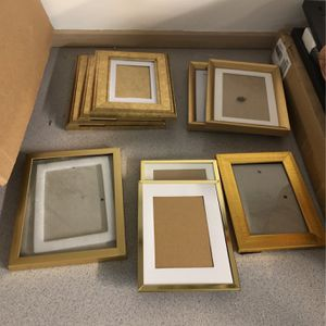 Gold Frames From Wedding (9) for Sale in SeaTac, WA