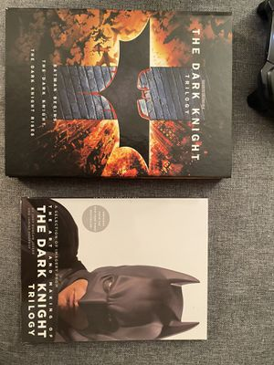 Dark Knight Trilogy DVD set with concept art book for Sale in Buffalo, NY