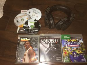 PlayStation 3 Game bundle with Gaming Headphones for Sale in Las Vegas, NV
