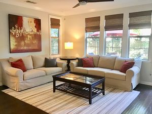 Couches, wall art, coffee table for Sale in San Diego, CA