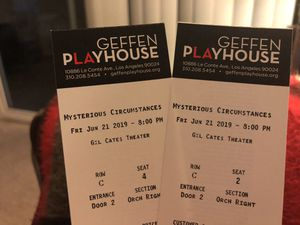 Play tickets 🎫 at Geffen Playhouse in Westwood for Sale in West Los Angeles, CA