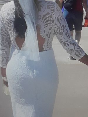 Wedding dress, veil, dan shoes for Sale in Tacoma, WA