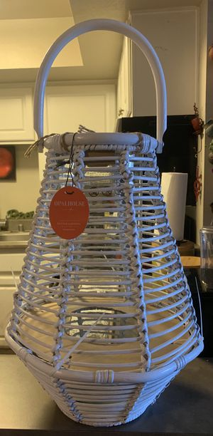 Rattan lantern candle holder for Sale in West Covina, CA