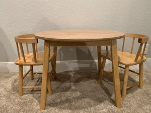 Small Children's Table Set with 2 Chairs for Sale in Bulverde, TX