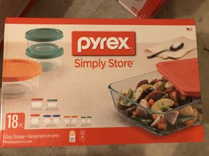 Brand New Pyrex 18 pcs Glass Food Storage Set for Sale in Oceanside, CA