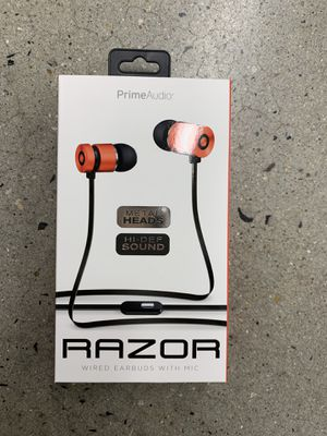Razor - high definition earbuds - BRAND NEW for Sale in Ijamsville, MD