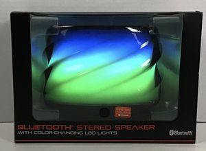 Blackweb Bluetooth Stereo Speaker With Color Changing LED Lights Brand New for Sale in Land O Lakes, FL