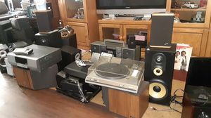 Receiver stereo speakers all brand name for Sale in Ellenwood, GA
