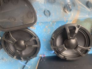 Boom audio 2 Dash speaker lids with speakers and grill black lids for Sale in Cleveland, OH