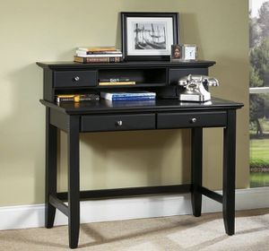Ebony desk's with drawers and hutch's and corner piece for Sale in Worcester, MA