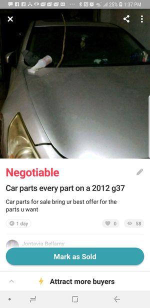 Car parts for sale g37 2012 for Sale in Miami, FL