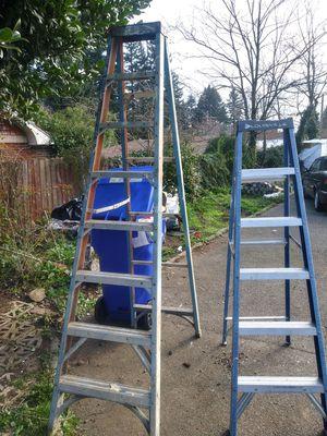 6 ft + 8 ft step ladder for Sale in Portland, OR