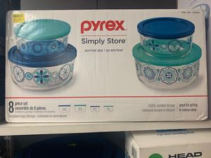 Pyrex Simply Store 8-Piece Decorative food storage NEW for Sale in Lauderhill, FL
