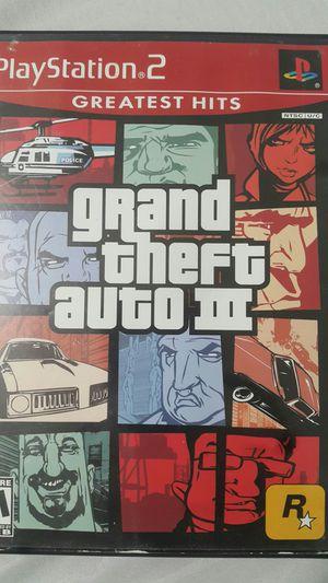 GRAND THEFT AUTO III FOR PS2 for Sale in Miami Gardens, FL