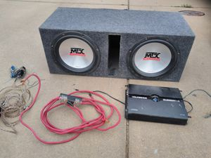 """1600w amp mtx 5500 12"""" subs for Sale in Wichita, KS"""