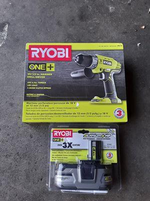 Ryobi drill for Sale in Paramount, CA