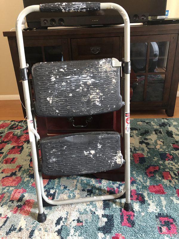 2 step folding stool