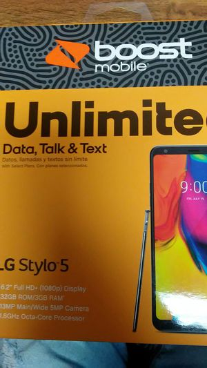 LG STYLO 5 FOR BOOST ON SPECIAL PROMO for Sale in Houston, TX