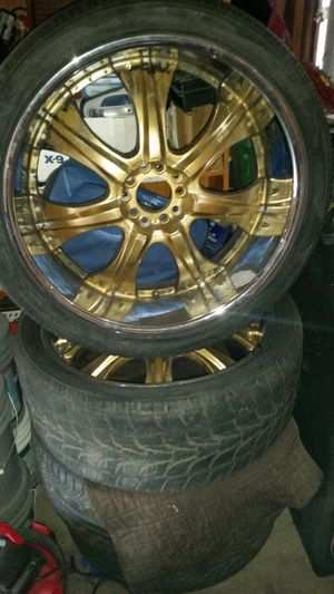 24 inch gold painted rims for Sale in North Highlands, CA