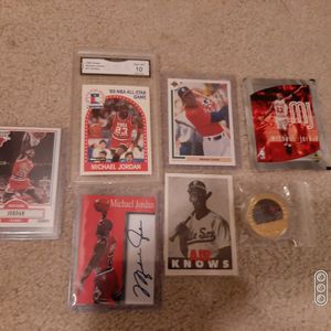 1989 Hoops All Star Michael Jordan Gem Mint 10 + Rookie Promos Gold Coin + for Sale in Arlington Heights, IL