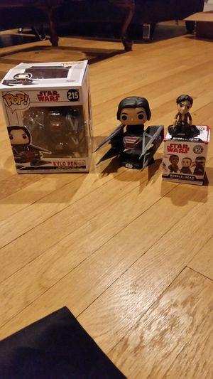 Star Wars Funko Pop lot Kylo Ren in Tie Fighter and Poe Dameron mystery mini bobble head figure Disney toy for Sale in Hartford, CT