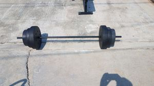 2 piece 5 foot barbell with 100lbs weight set for Sale in Montebello, CA