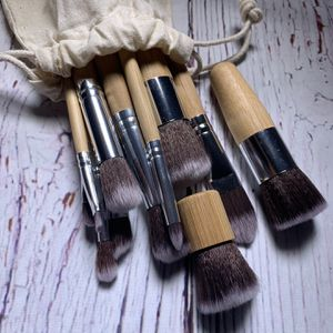 11 Pcs Natural Vegan Bamboo Makeup Brush Set for Sale in Bakersfield, CA