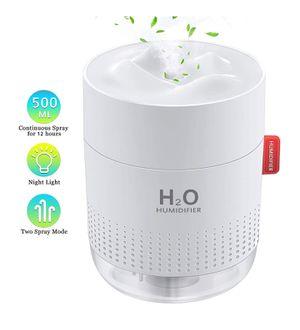 Portable Humidifier, Mini Cool Mist Humidifier with Night Light, USB Personal Humidifier Auto Shut-Off, Ultra-Quiet, 2 Spray Modes for Sale in San Bernardino, CA
