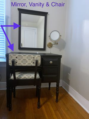 Antique Sewing Cabinet turned Vanity for Sale in Dallas, TX
