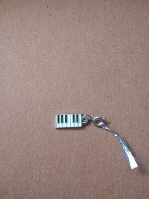 Silver Piano Keyboard charm pendant for Sale in OR, US