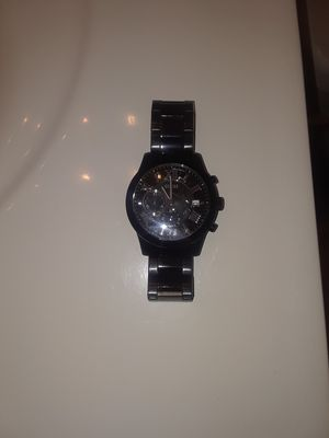 Black Stainless Steel Guess Watch for Sale in Manassas, VA