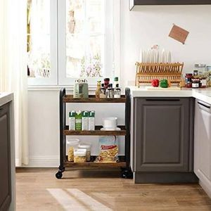 Scandinavian Style Slim Kitchen Cart Space-Saving Serving Cart Trolley for Sale in Beverly Hills, CA
