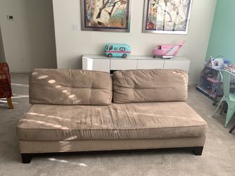 Couch-tan suede for Sale in Austin,  TX