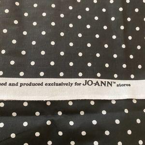 Black With White PolkaDot Cotton Fabric for Sale in Bonita, CA