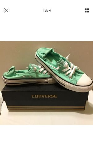Converse green/white new with box size 6 for Sale in Bronx, NY
