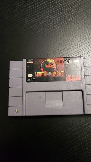 Mortal kombat for the SNES super Nintendo entertainment system for Sale in Gainesville, FL