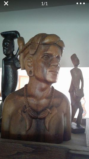 Solid wooden statute nice for Sale in Palo Alto, CA
